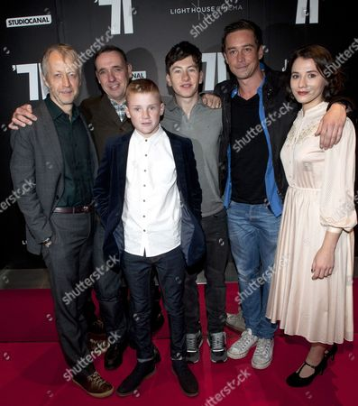 Robin Gutch, Angus Lamont, Corey McKinley, Barry Keoghan, Killian Scott and Charlie Murphy
