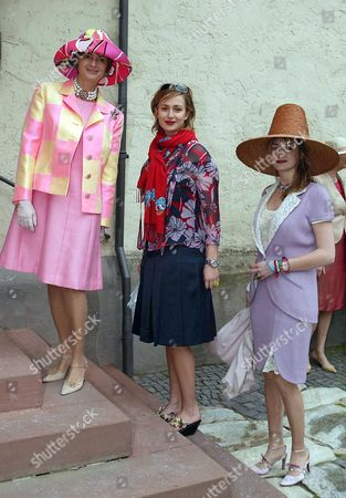 Princess Gloria von Thurn und Taxis with her daughters Princess Maria Theresia and Princess Elisabeth von Thurn und Taxis