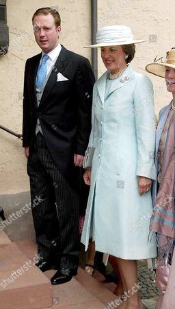 Princess Benedike zu Sayn Wittgenstein Berleburg and her son Prince Gustav