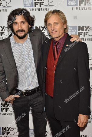 Lisandro Alonso and Viggo Mortensen attend 'Jauja' film premiere