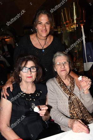 Stock Photo of Tracey Emin with Sandra Esquilant and mother Pamela Cashin