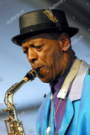Jazz icon Ornette Coleman performs at the 2003 New Orleans Jazz and Heritage Festival.