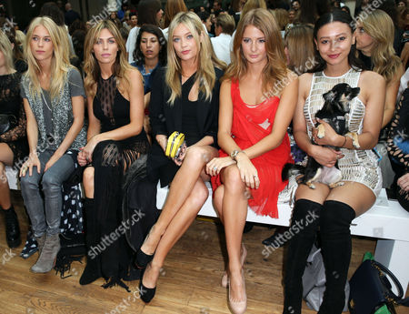 Stock Picture of Lady Mary Charteris, Abigail Clancy, Laura Whitmore, Millie Mackintosh and Leah Weller