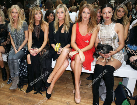 Stock Image of Lady Mary Charteris, Abigail Clancy, Laura Whitmore, Millie Mackintosh and Leah Weller