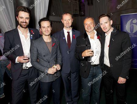 Stock Image of Jack Baggs, Andrew Scott, Mark Gatiss, Graham Norton & Dan Gillespie Sells