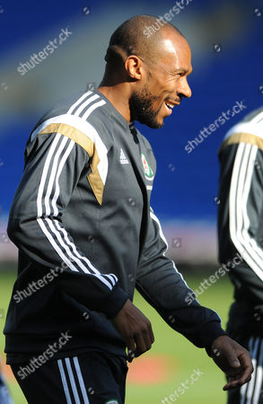 Danny Gabbidon of Wales (Cardiff City) trains at the Cardiff City Stadium ahead of the game against Bosnia and Herzegovina