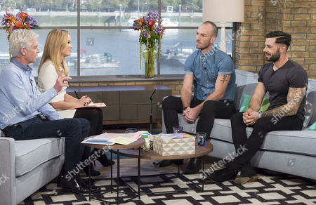 Phillip Schofield and Amanda Holden with James Ingham and Charlie King.