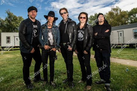 Stock Image of Buckcherry - Josh Todd, Keith Nelson, Stevie D., Xavier Muriel and Kelly LeMieux