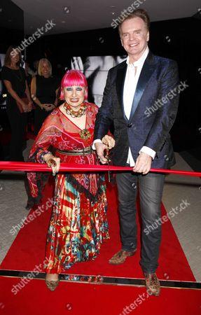Zandra Rhodes and Christopher Guy Harrison