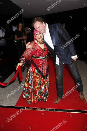 Stock Picture of Zandra Rhodes and Christopher Guy Harrison