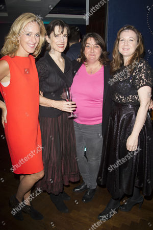 Kate Pakenham (Executive Producer), Harriet Walter (King Henry), Ashley McGuire (Falstaff) and Josie Rourke (Artistic Director)