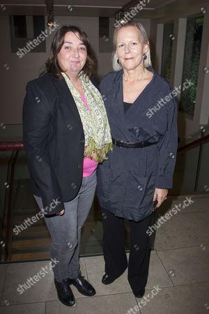 Ashley McGuire (Falstaff) and Phyllida Lloyd (Director)