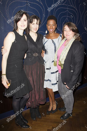 Clare Dunne (Hal), Harriet Walter (King Henry), Jade Anouka (Hotspur) and Ashley McGuire (Falstaff)