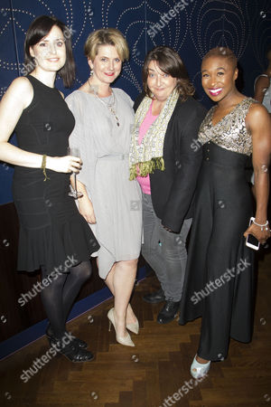 Clare Dunne (Hal), Jackie Clune (Westmorland/Glendower), Ashley McGuire (Falstaff) and Cynthia Erivo (Poins/Earl of Douglas)