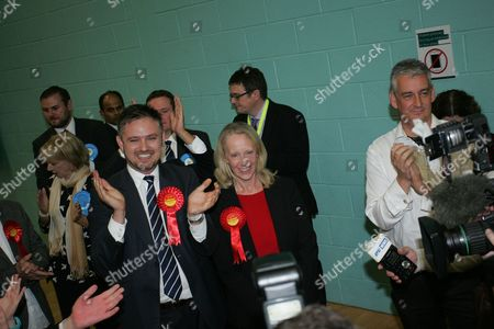 Liz McInnes after the result of the Middleton and Heywood By-Election