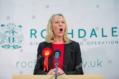 The count at the Heywood and Middleton by-election - Labour candidate Liz McInnes delivers her victory speech.