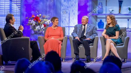 Alan Titchmarsh with Brenda and Dennis Goodwin with Kate Williams