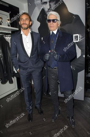Editorial image of Karl Lagerfeld boutique opening, Paris, France - 09 Oct 2014