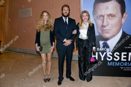 Blaca Cuesta, Borja Thyssen and Baroness Carmen Von Thyssen-Bornemisza