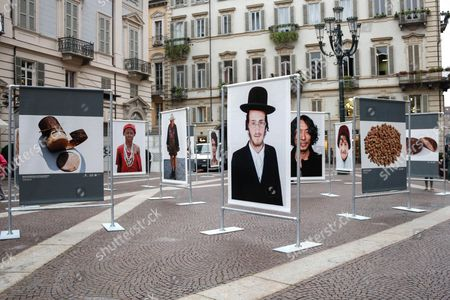 Oliviero Toscani Photo Exhibition in Piazza Carignano for 'TERRA Madre 2014', Turin, Italy