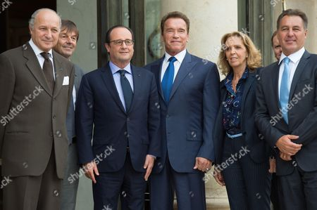Editorial picture of Arnold Schwarzenegger visit to Paris, France - 10 Oct 2014