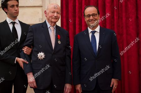 Cannes Film Festival Former President Gilles Jacob and President Francois Hollande