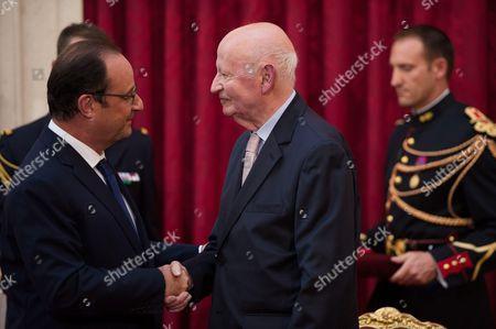 President Francois Hollande and Cannes Film Festival Former President Gilles Jacob