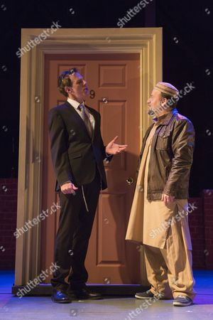 L-R: Steven Serlin as Rabbi and Kev Orkian as Mahmoud