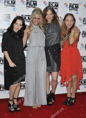 Stock Photo of Marama Corlett, Hannah Spearritt, Sienna Guillory and Rosa French