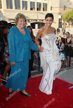 Stock Image of Eva Longoria and mother Ella Eva Mireles