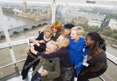Editorial picture of International Day of the Girl event, London Eye, Britain - 10 Oct 2014