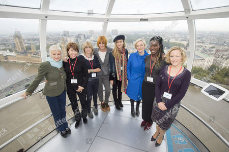 Editorial image of International Day of the Girl event, London Eye, Britain - 10 Oct 2014