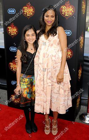 Genesis Ochoa and Zoe Saldana