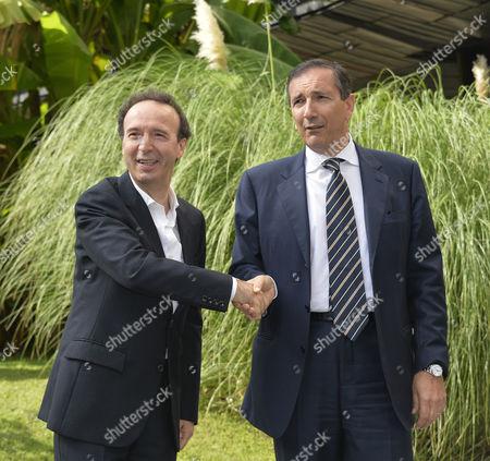 Roberto Benigni with Luigi Gubitosi General Manager RAI