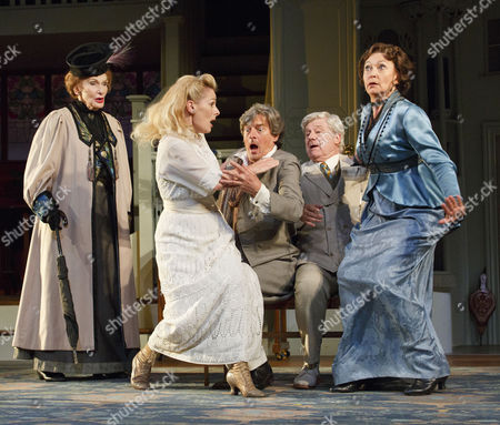 'The Importance of Being Earnest' - Sian Phillips (Lady Bracknell), Christine Kavanagh (Cicely Cardew), Nigel Havers (Algernon Moncrieff), Martin Jarvis (John Worthing, J.P.) and Cherie Lunghi (Gwendolen Fairfax)