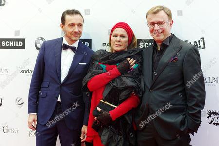 Guido Fluri, Ursula Andress and Claudio Righetti