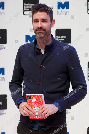 Joshua Ferris with his novel 'To Rise Again at a Decent Hour'