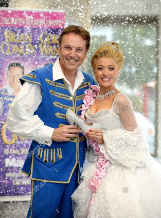 Brian Conley (Buttons) and Kathryn Rooney (Cinderella)