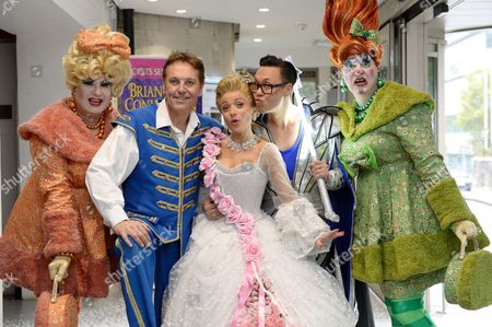 Gok Wan (The Fairy Gokmother), Kathryn Rooney (Cinderella) and Brian Conley (Buttons)