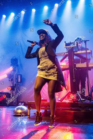 Elisabeth Troy performs with Clean Bandit