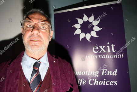Stock Photo of Dr Philip Nitschke, aka 'Dr Death', at a public meeting about Voluntary Euthanasia