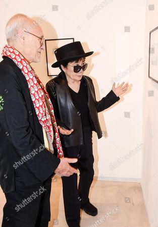 John Dunbar and Yoko Ono