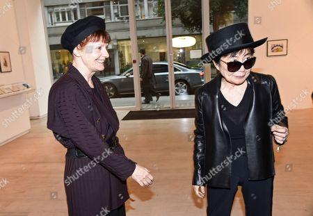 Jane England and Yoko Ono