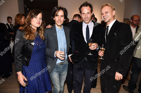 Jade Jagger, Piers Jackson, Marlon Richards and Adrian Fillary