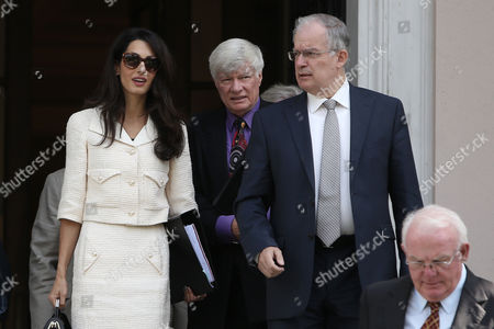 Amal Clooney with Greek Culture and Sports Minister Kostas Tasoulas