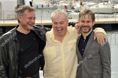 Michael Nyqvist, Bobby Moresco and Dominic Monaghan