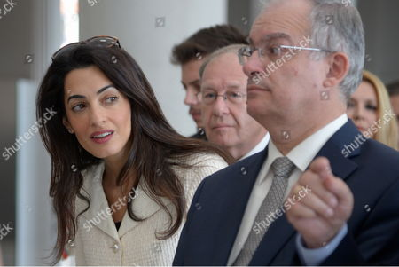 Editorial photo of Amal Clooney in Athens, Greece - 15 Oct 2014