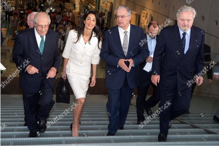 Amal Clooney is being given a tour with Culture Minister Kostas Tasoulas