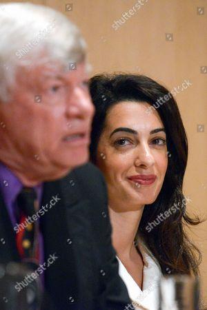 Geoffrey Robertson and Amal Clooney