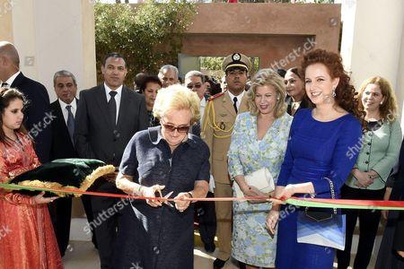 Princess Lalla Salma, Dominique Folloroux-Ouattara and Bernadette Chirac
